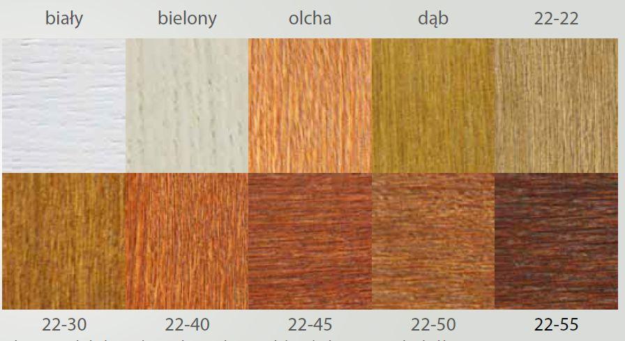 Paleta kolorów drzwi drewniane