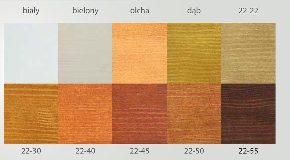 Paleta kolorów wykonana na obłogu sosnowym